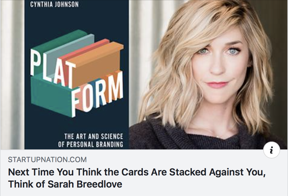 Next Time You Think the Cards Are Stacked Against You, Think of Sarah Breedlove - STARTUP NATION