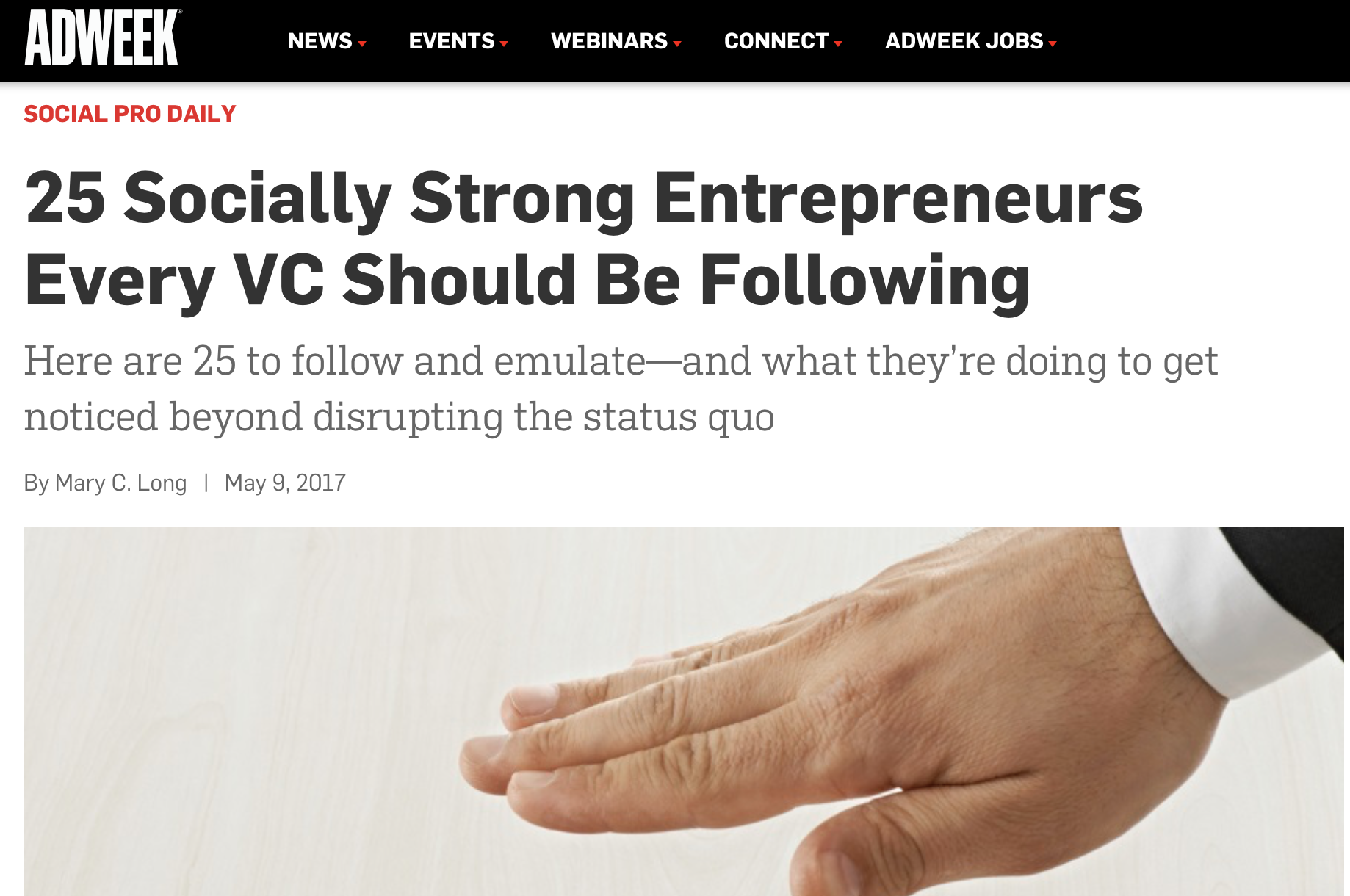 25 Socially Strong Entrepreneurs Every VC Should Be Following - ADWEEK