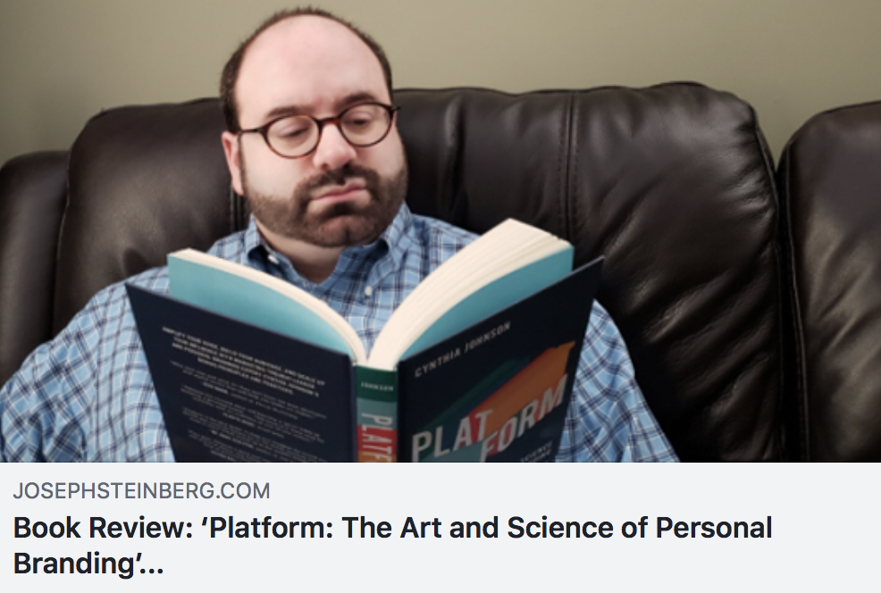 Book Review: 'Platform: The Art and Science of Personal Branding' by Cynthia Johnson - JOSEPH STEINBERG