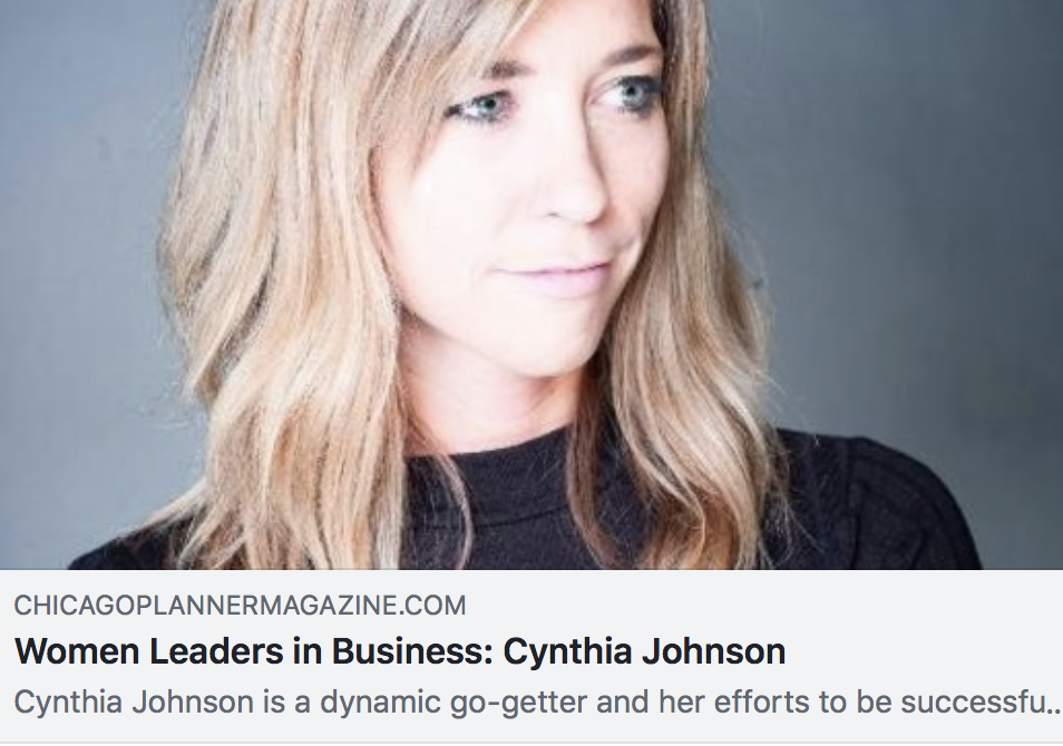 Women Leaders in Business: Cynthia Johnson - CHICAGO PLANNER MAGAZINE
