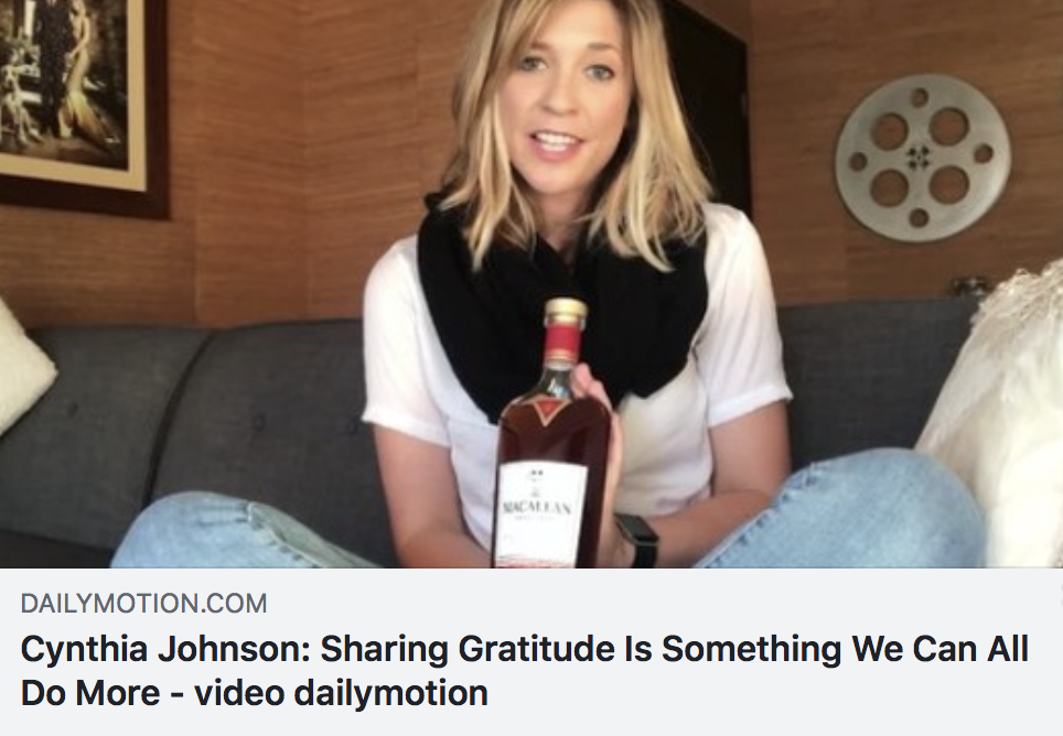 Cynthia Johnson: Sharing Gratitude Is Something We Can All Do More - DAILY MOTION