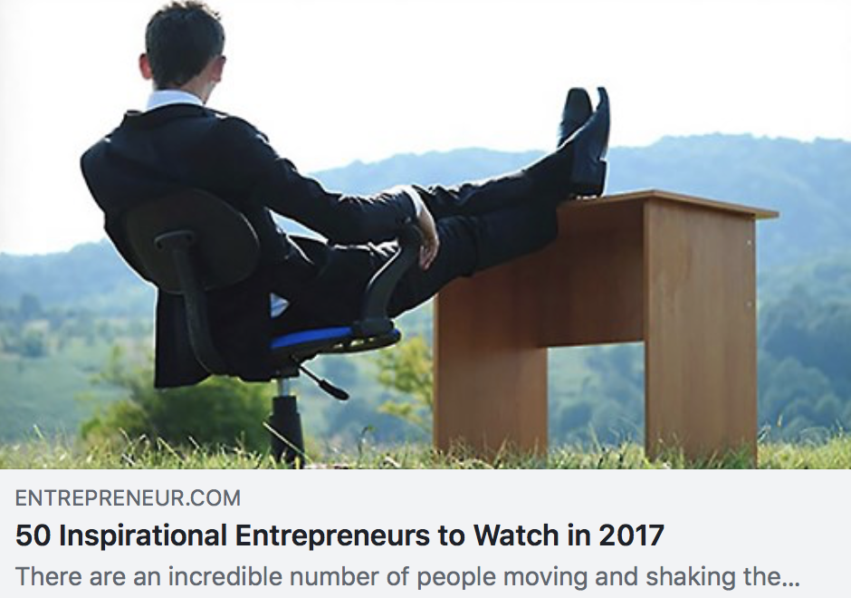 50 Inspirational Entrepreneurs to Watch in 2017 - ENTREPRENEUR MAGAZINE