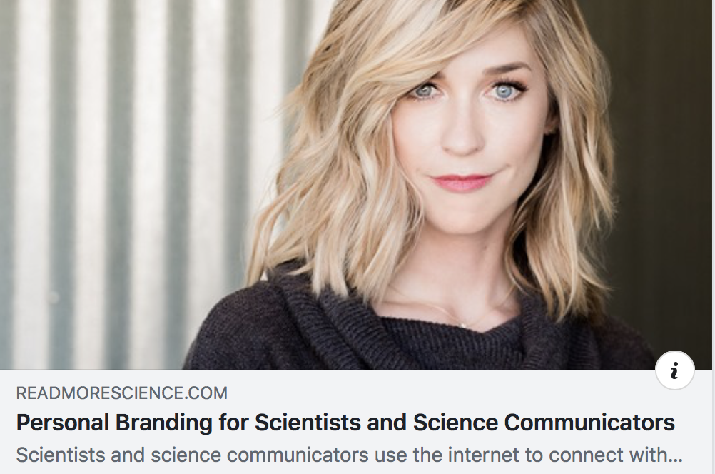 Personal Branding for Science - READMORESCIENCE.COM