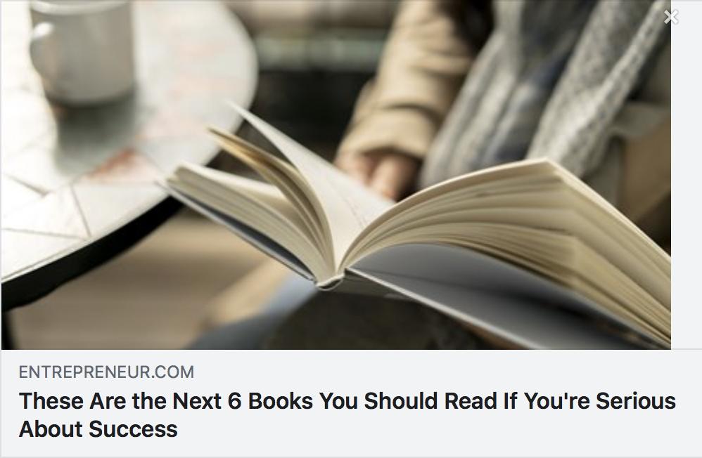 Top 6 Books for Success - ENTREPRENEUR MAGAZINE
