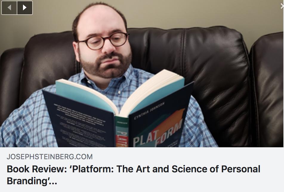 PLATFORM Book Review by Joseph Steinberg - JOSEPHSTEINBERG.COM