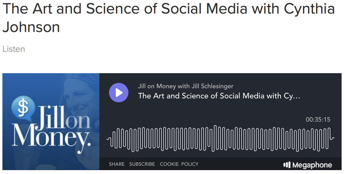 The Art and Science of Social Media with Cynthia Johnson - JILL ON MONEY