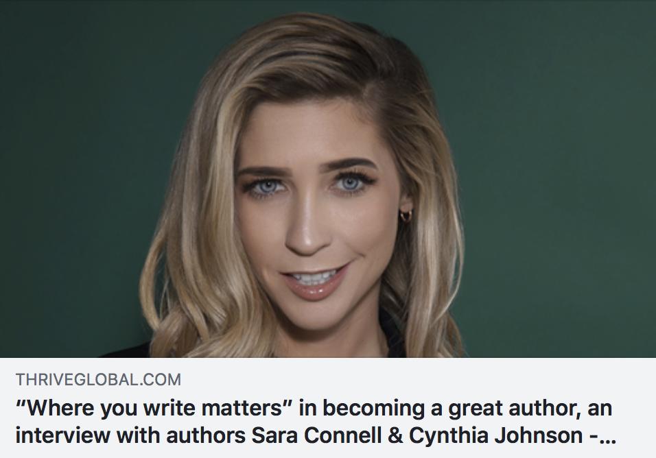 """Where you write matters"" - THRIVE GLOBAL"