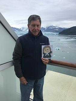 Visiting Hubbard Glacier, Alaska.