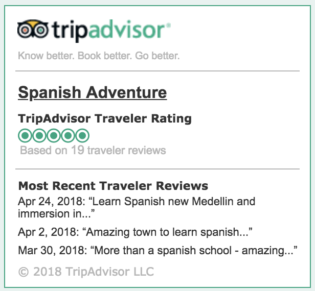 Trip Advisor Rating   5/5 Stars ★★★★★