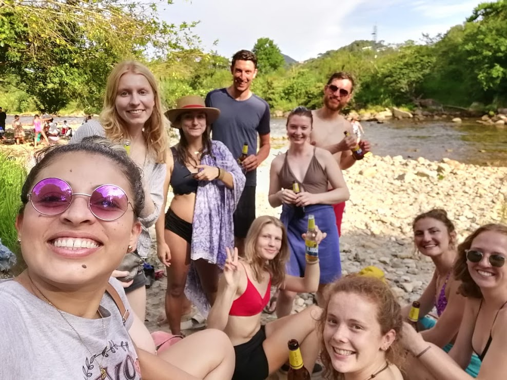 Spanish Adventurers enjoyed the magical water of the San Carlos River during the  Fiestas Del Agua !