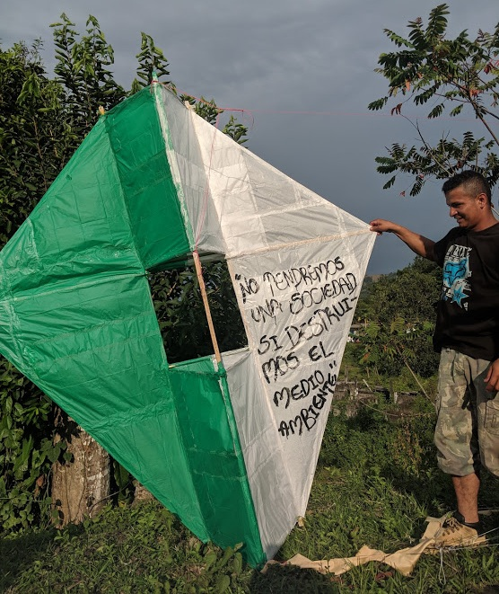 """Homemade kites spread wisdom: """"We will not have a society if we destroy the environment."""""""