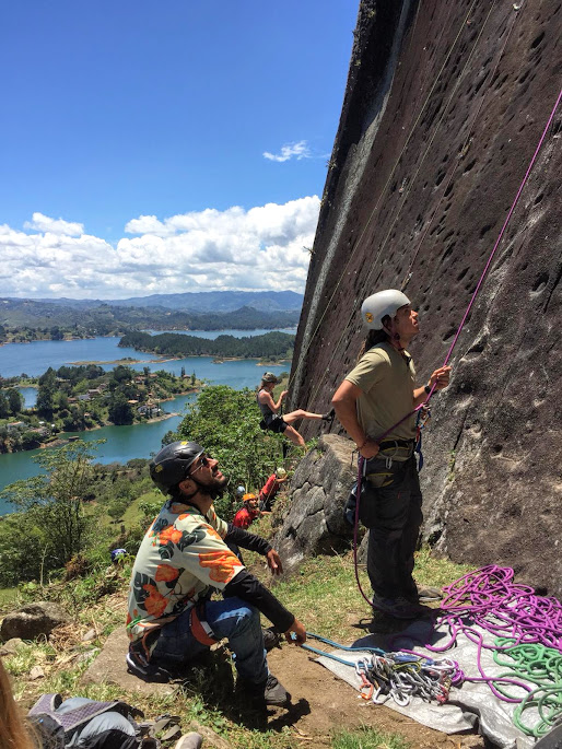 Spanish Adventure was safe in the hands of our excellent tour guides and belay team!