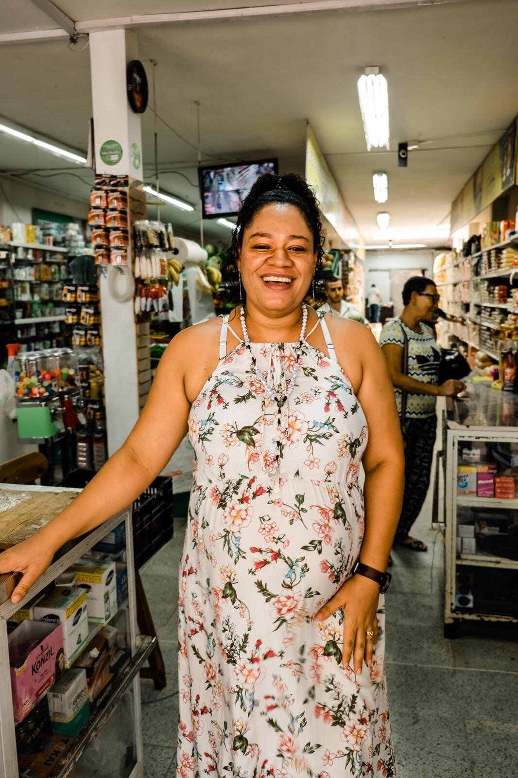 The lady of the supermarket on the square of San Carlos