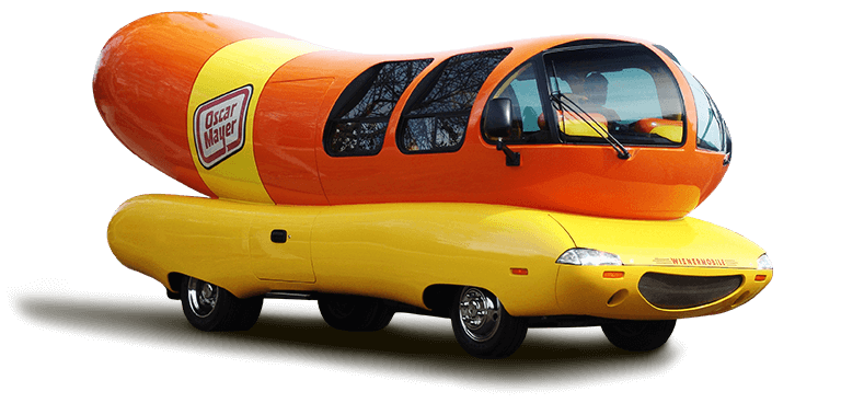 Street Marketing & Vehicles - In 1936, Oscar Mayer was one of the pioneer's of brand awareness through their iconic Weinermobile.