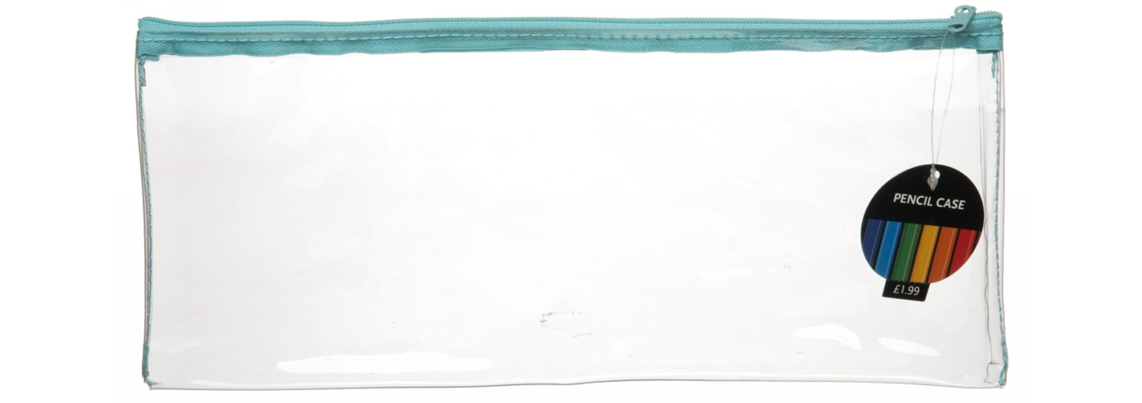 wh smith large clear pencil case