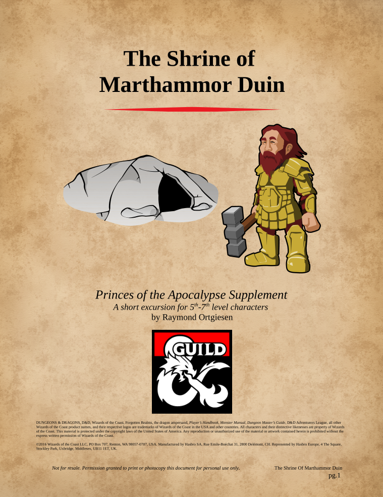 The Shrine of Marthammor Duin