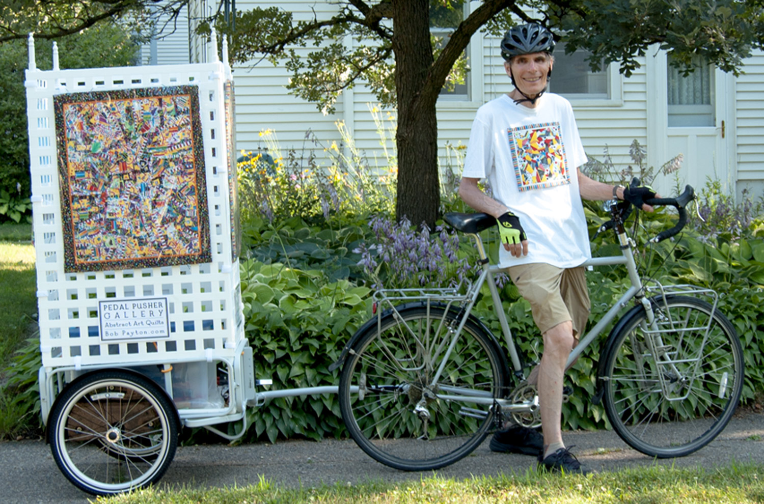 Bob Payton - Bicycle Art Cart - Pedal Pusher Gallery