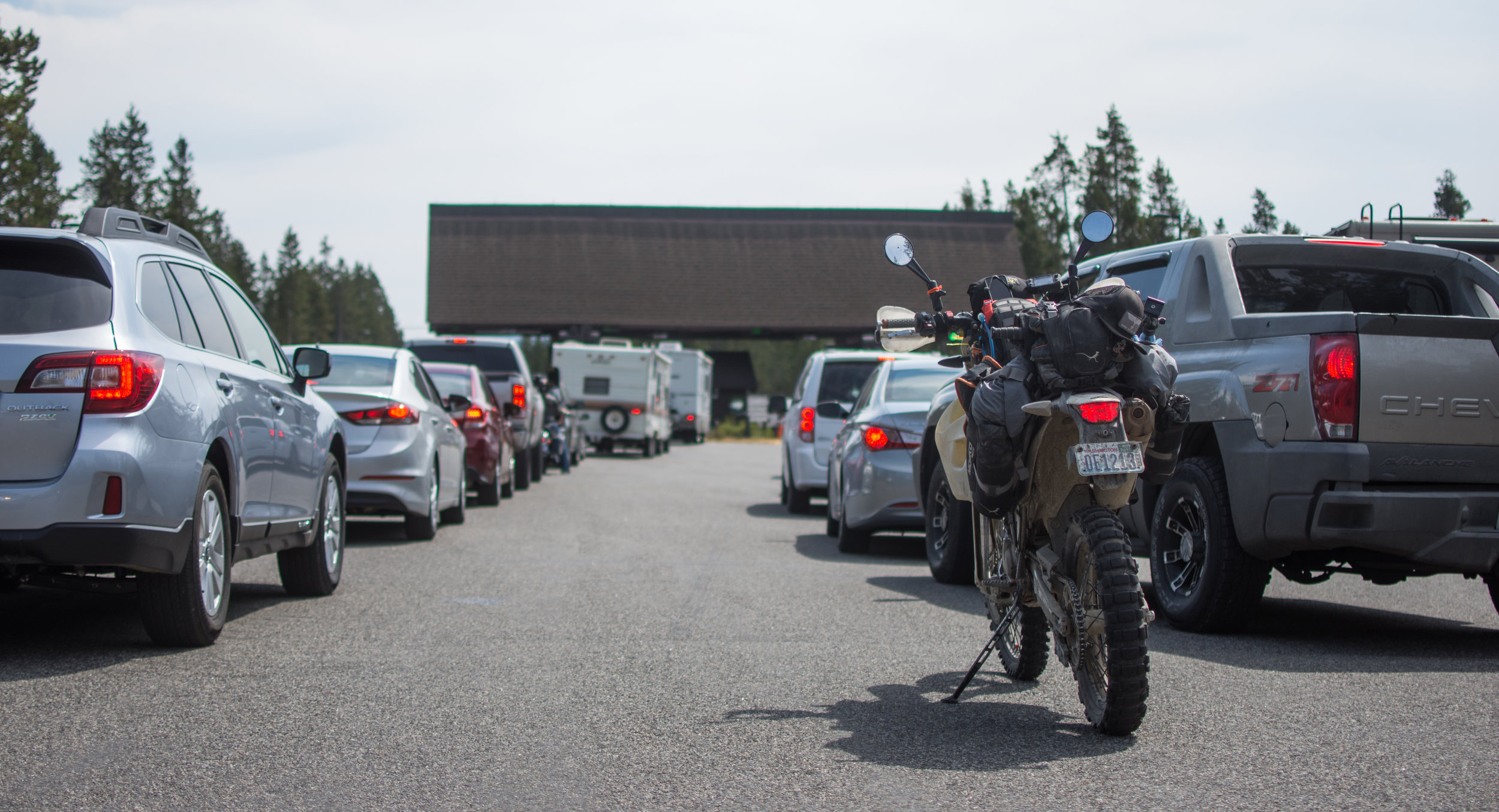 44.656751, -111.089905 . Yellowstone summer traffic.