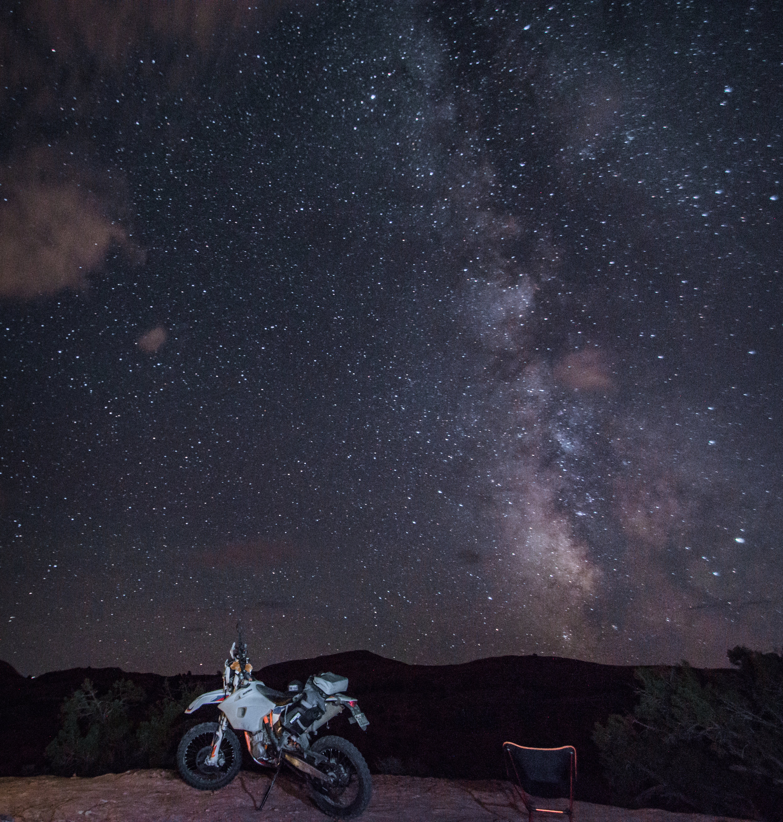 Moab night sky. Never forget your chair.