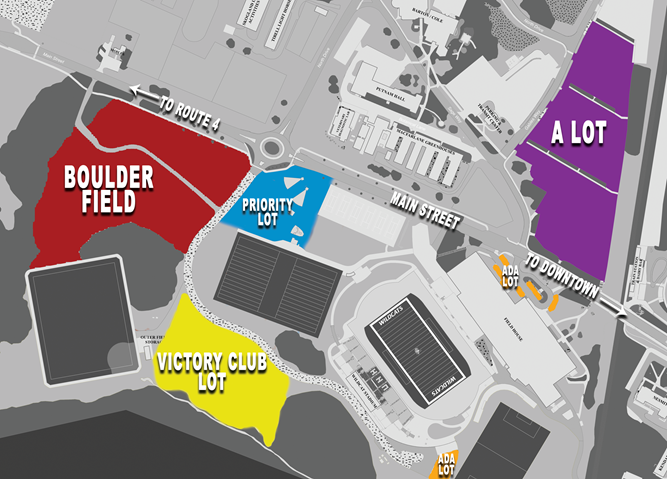 Join us at the Priority Lot, easy access to Boulder Field, the stadium and next to the Sigma Beta tailgate.