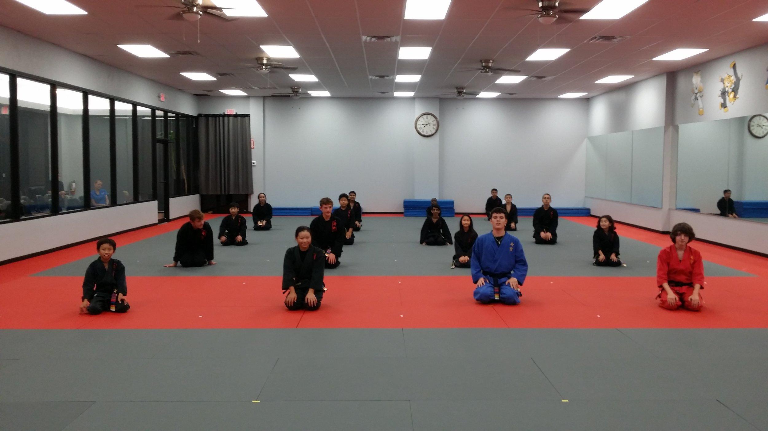 Black Belt class, Cinco Ranch school