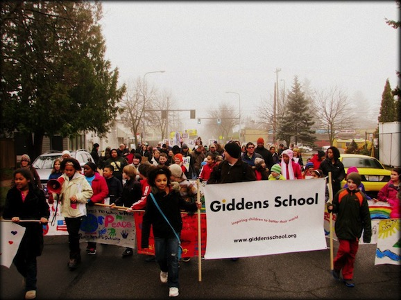 Giddens School MLK March 2013, Photo By Casey Moot