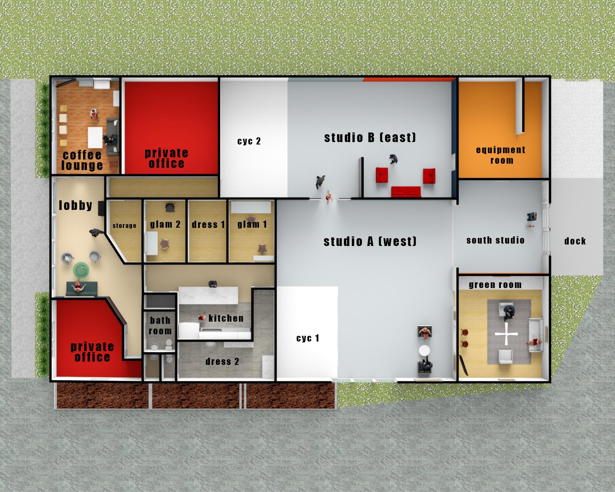 Westlight Studios layout