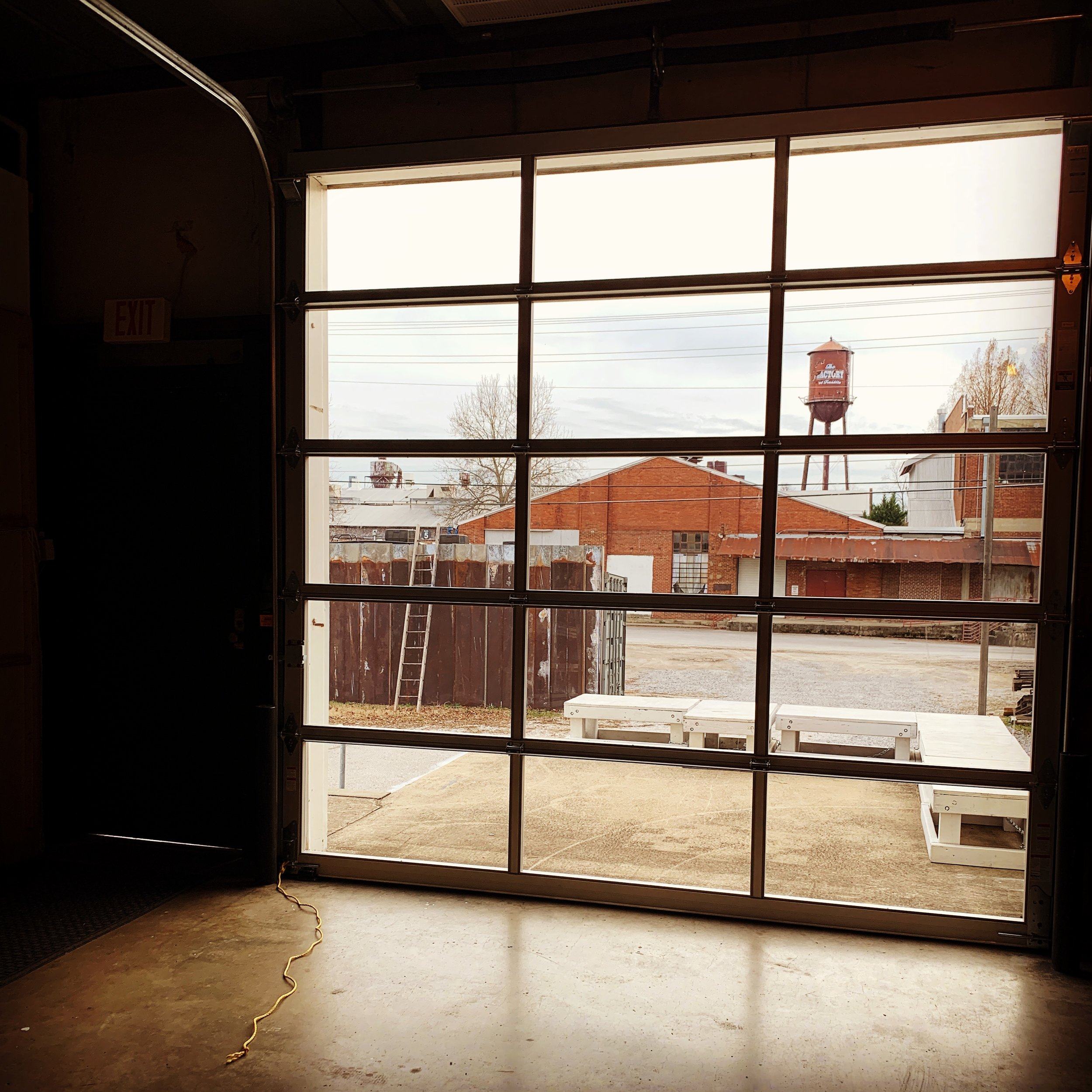 Dec 19 2018 - Westlight Studios gets a new glass garage door in Studio A