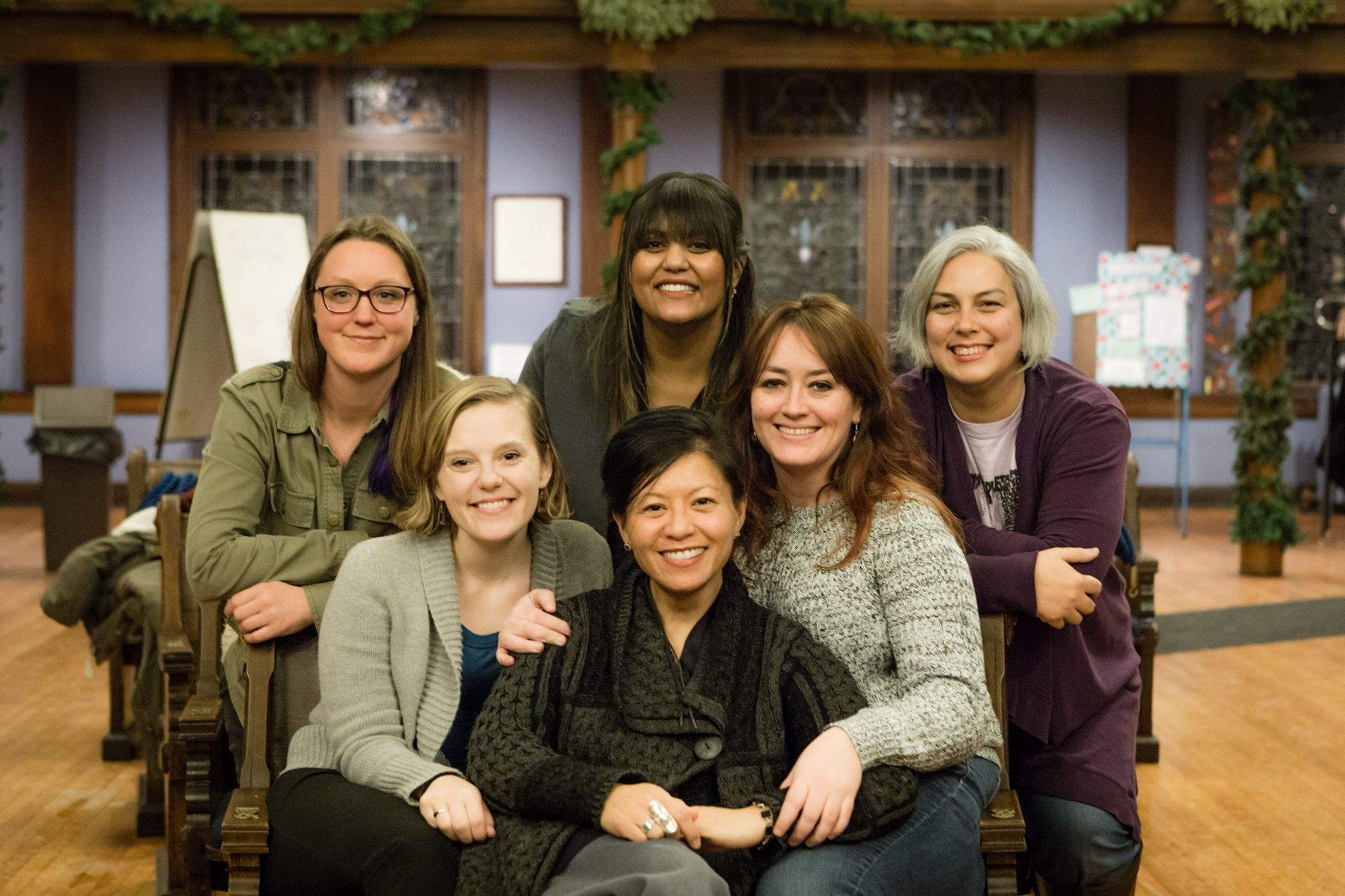 The Women's March on Washington - Illinois Chapter State Team, from right to left: Julie, Amanda Jane, Mrinalini, Leni, Amber, and Amanda.