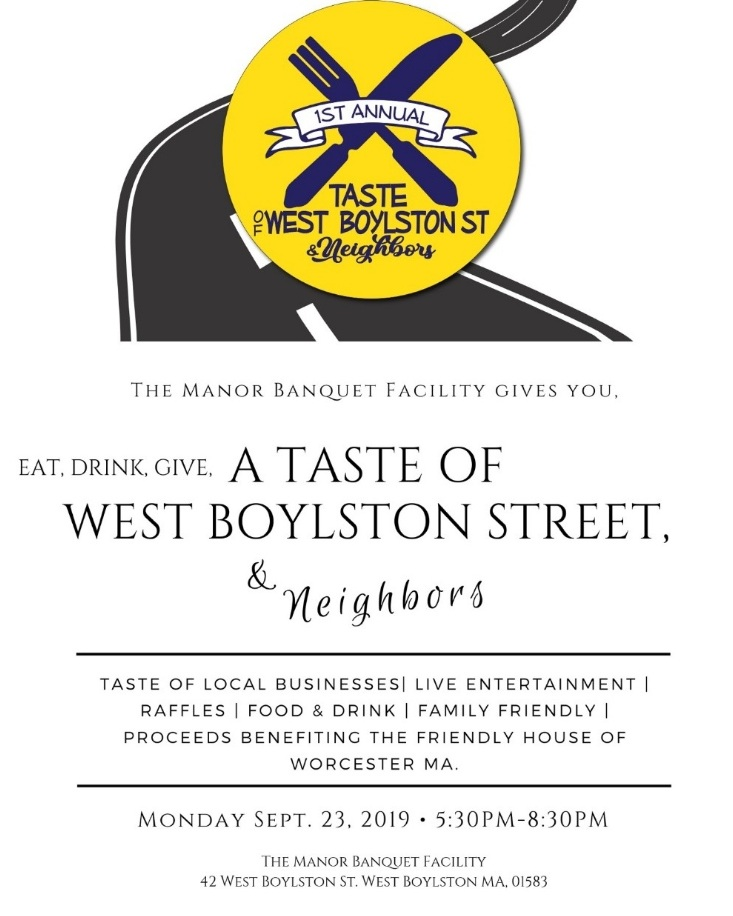 Help support IHN, Friendly House, and local area businesses. Join us for A Taste of West Boylston Street on Sept. 23, 2019. Tickets are now available.