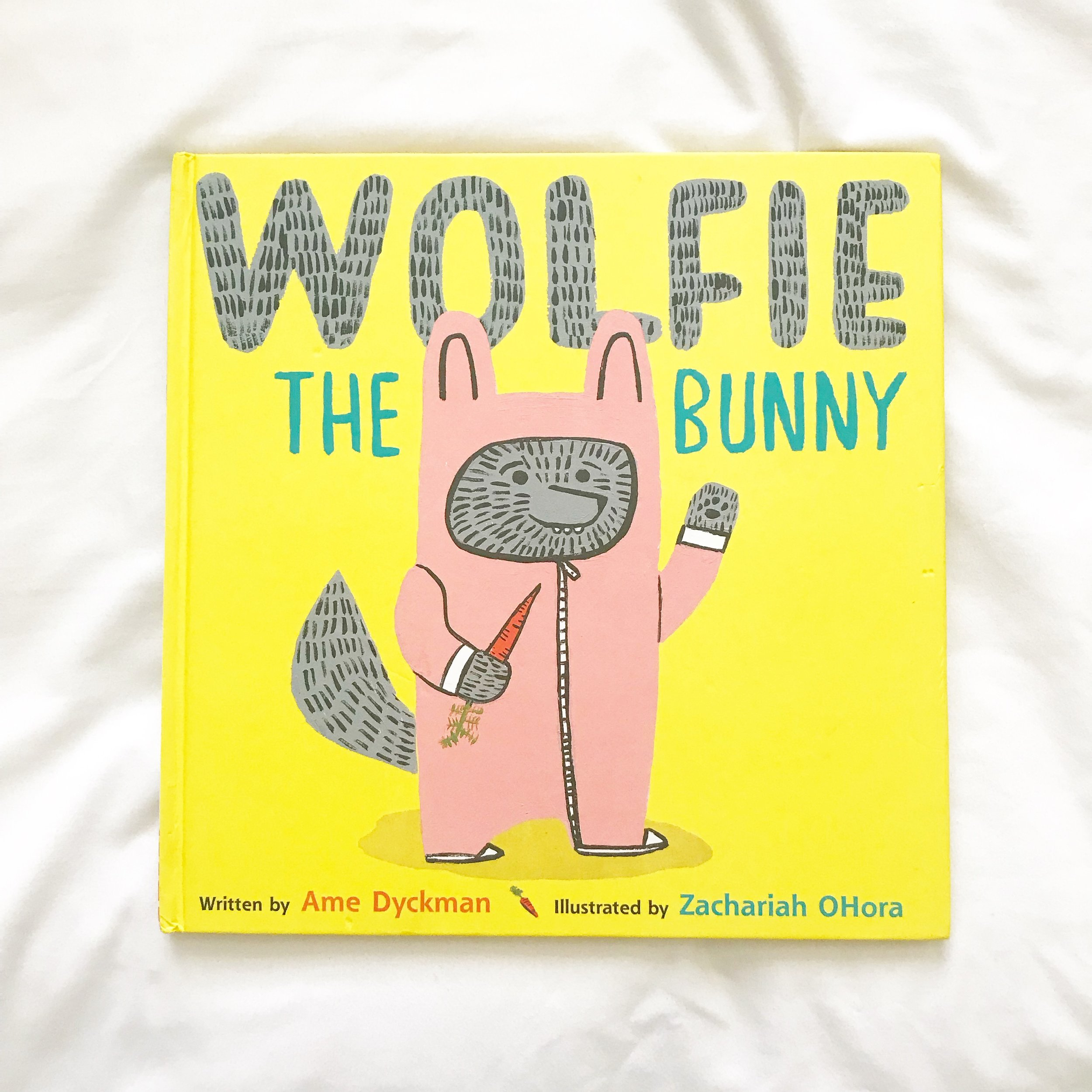 Wolfie the Bunny   The bunny family adopted a wolf son - sure to be a silly story!  Will he eat his family?!