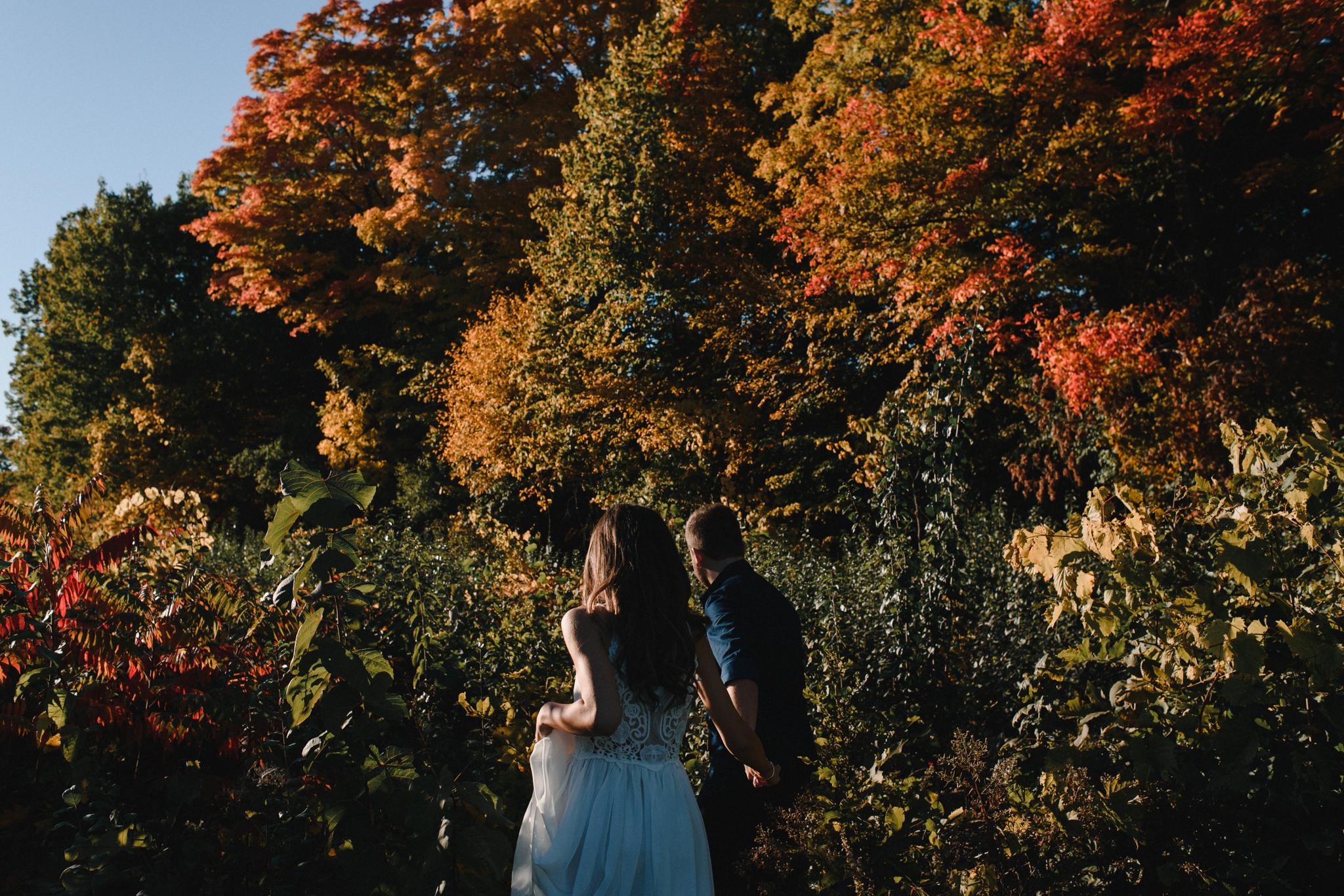 stephanie + joel's engagement session at parc nature bois-de-liesse, montreal