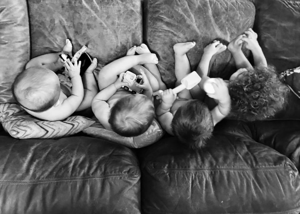 virtual triplets, quadruplets, four kids under two years