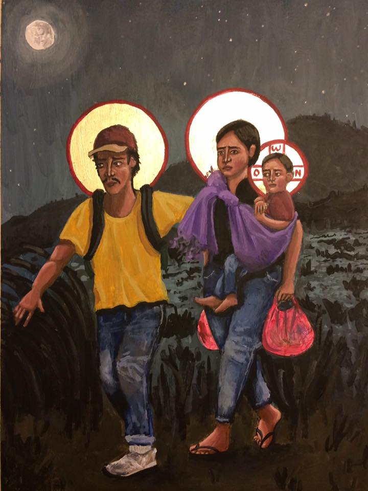 jesus as a refugee art