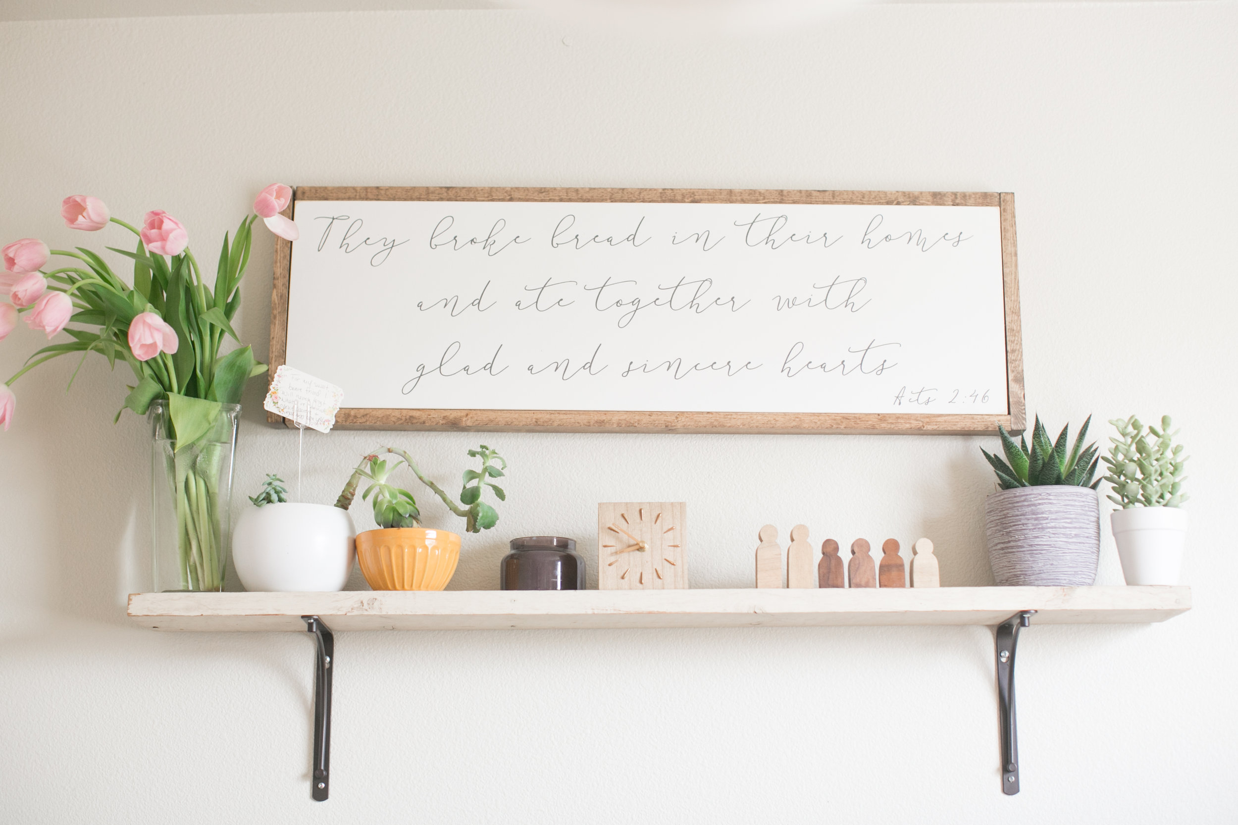 rooted and grounded home — dining room sign