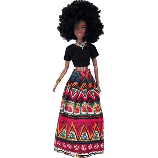 african american black barbie doll