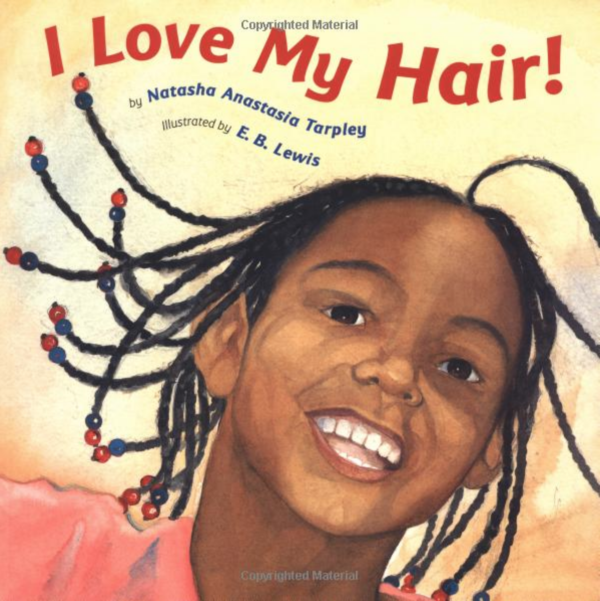 i love my hair, african american girl book