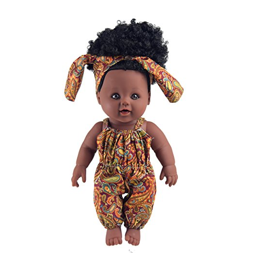 black baby girl doll big hair