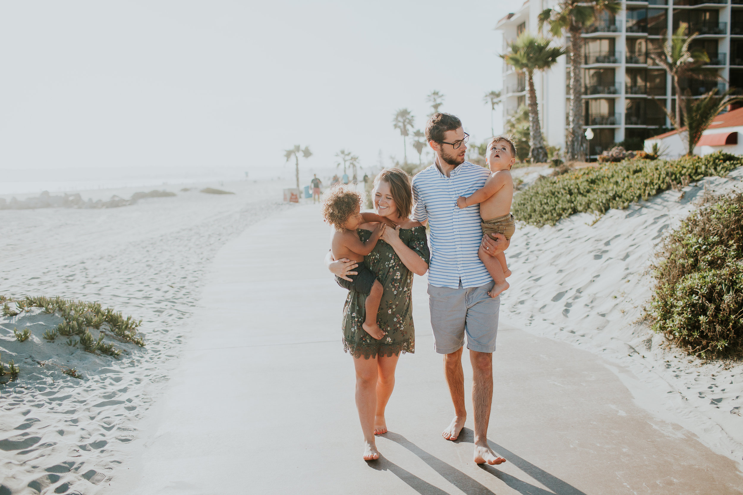 family of four, san diego coronado beach
