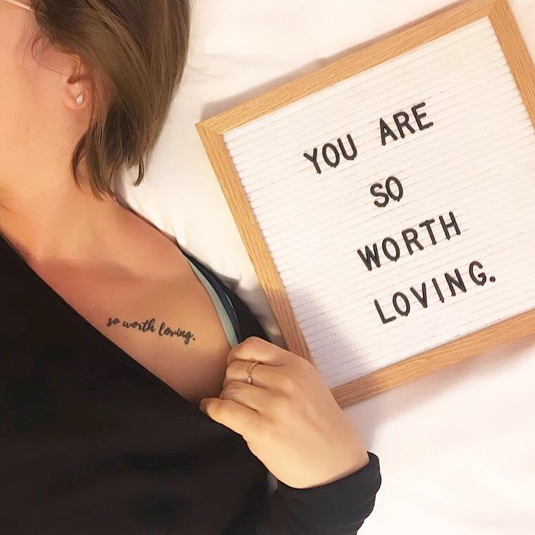 so worth loving, script tattoo, natalie brenner, tattoo of so worth loving