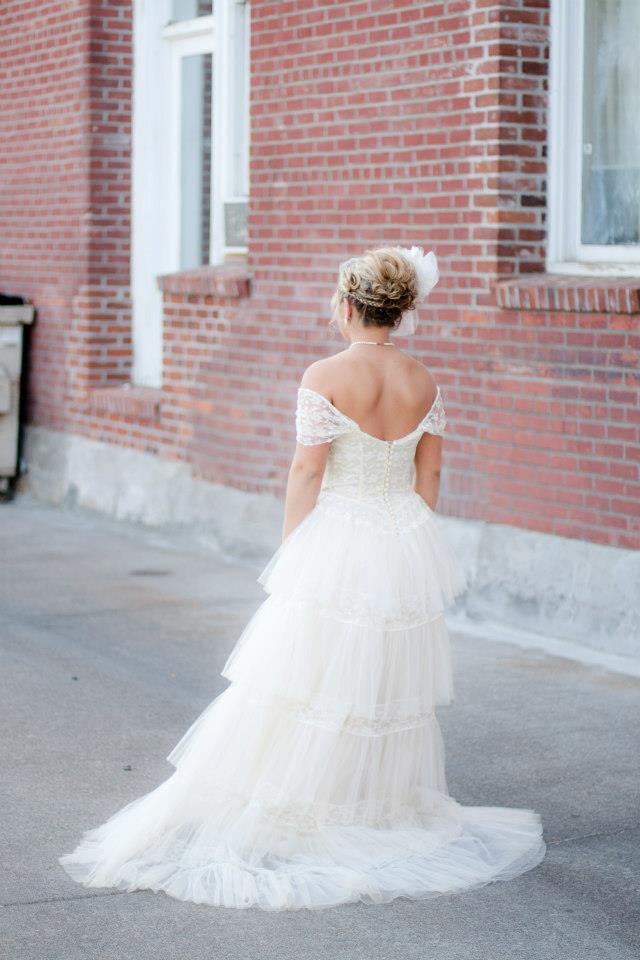 vintage tiered lace dress
