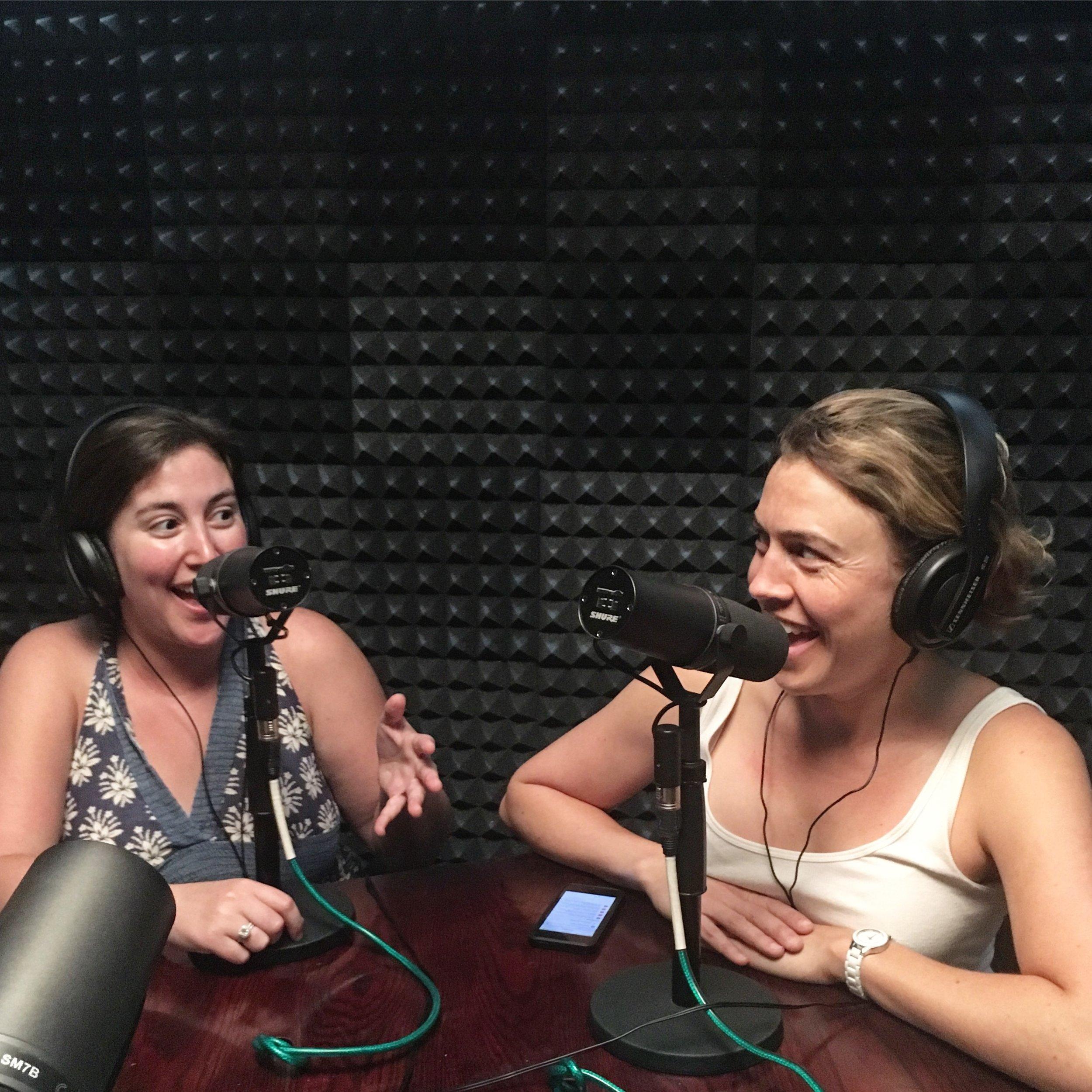 Chelsea Steiner and Megan Brotherton, at The Nerdist School in Los Angeles.