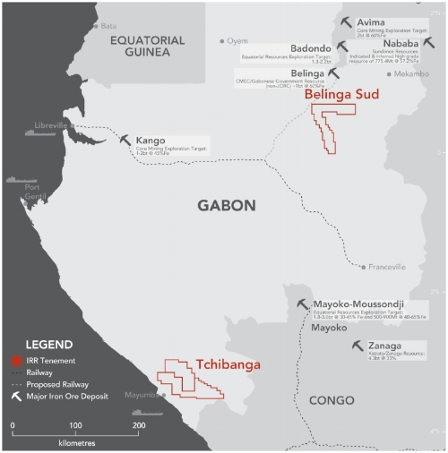 project locations and surrounding iron ore projects