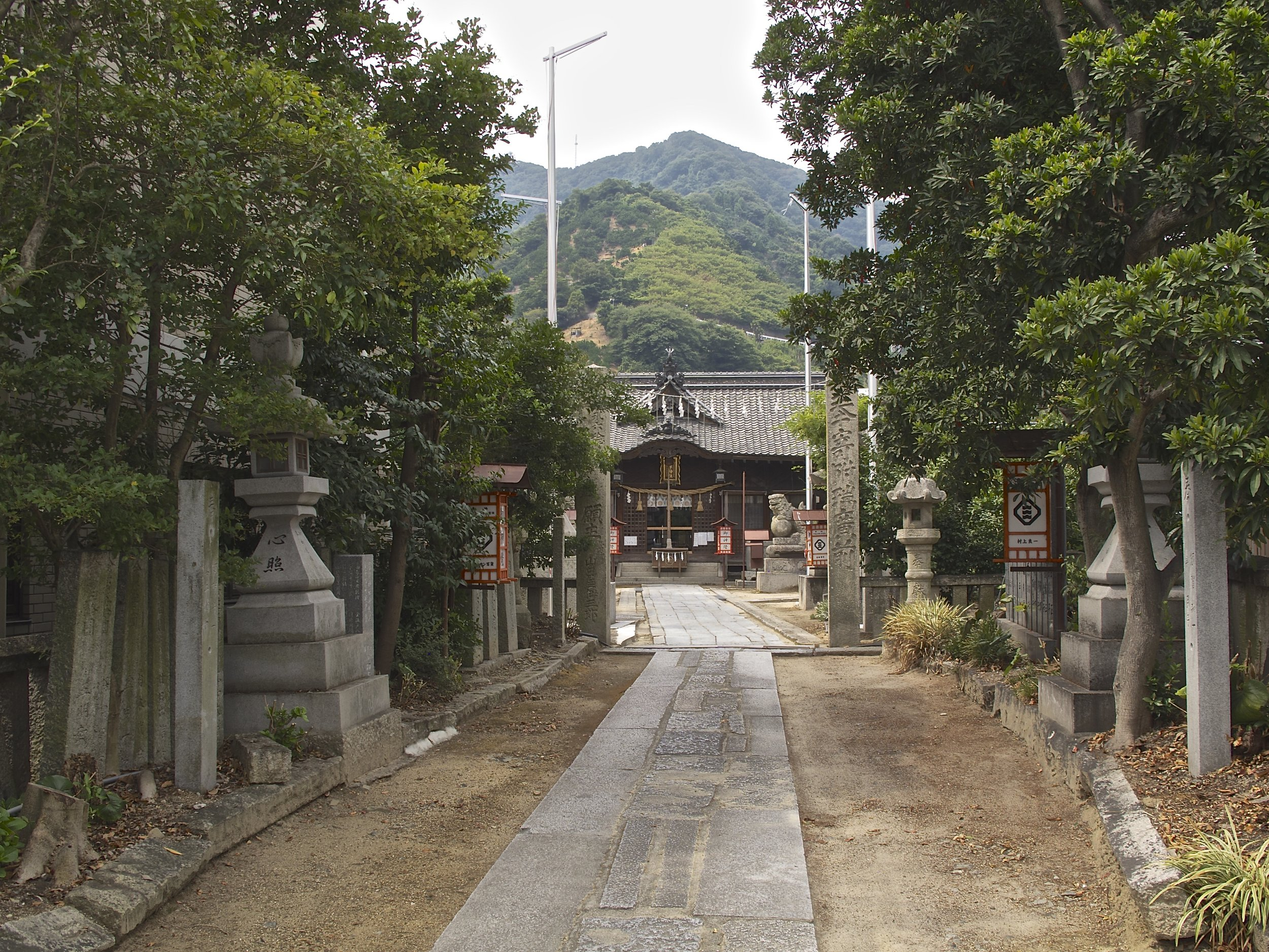 The Utsu Shinto shrine in the town of Ocho is believed to be over 2,000 years old.