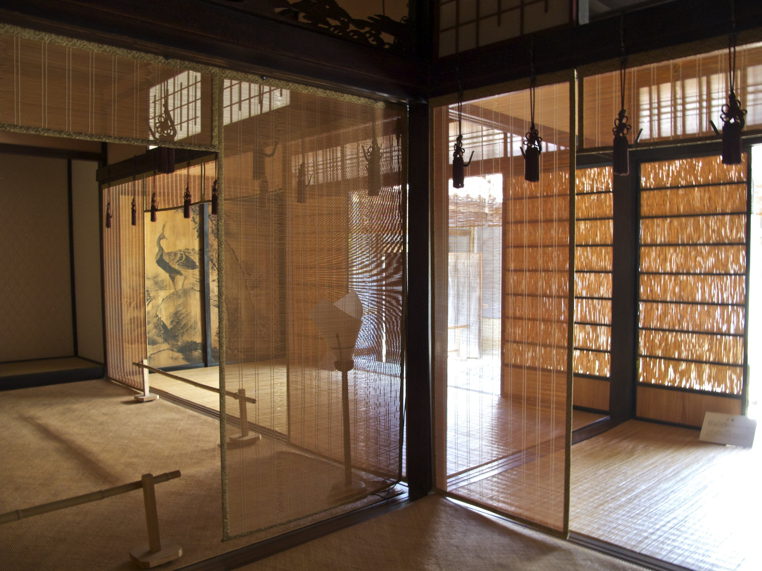The spaciousness and sumptuousness of the Kumagai residence reflect Omori's prosperity during the silver mine's heyday.