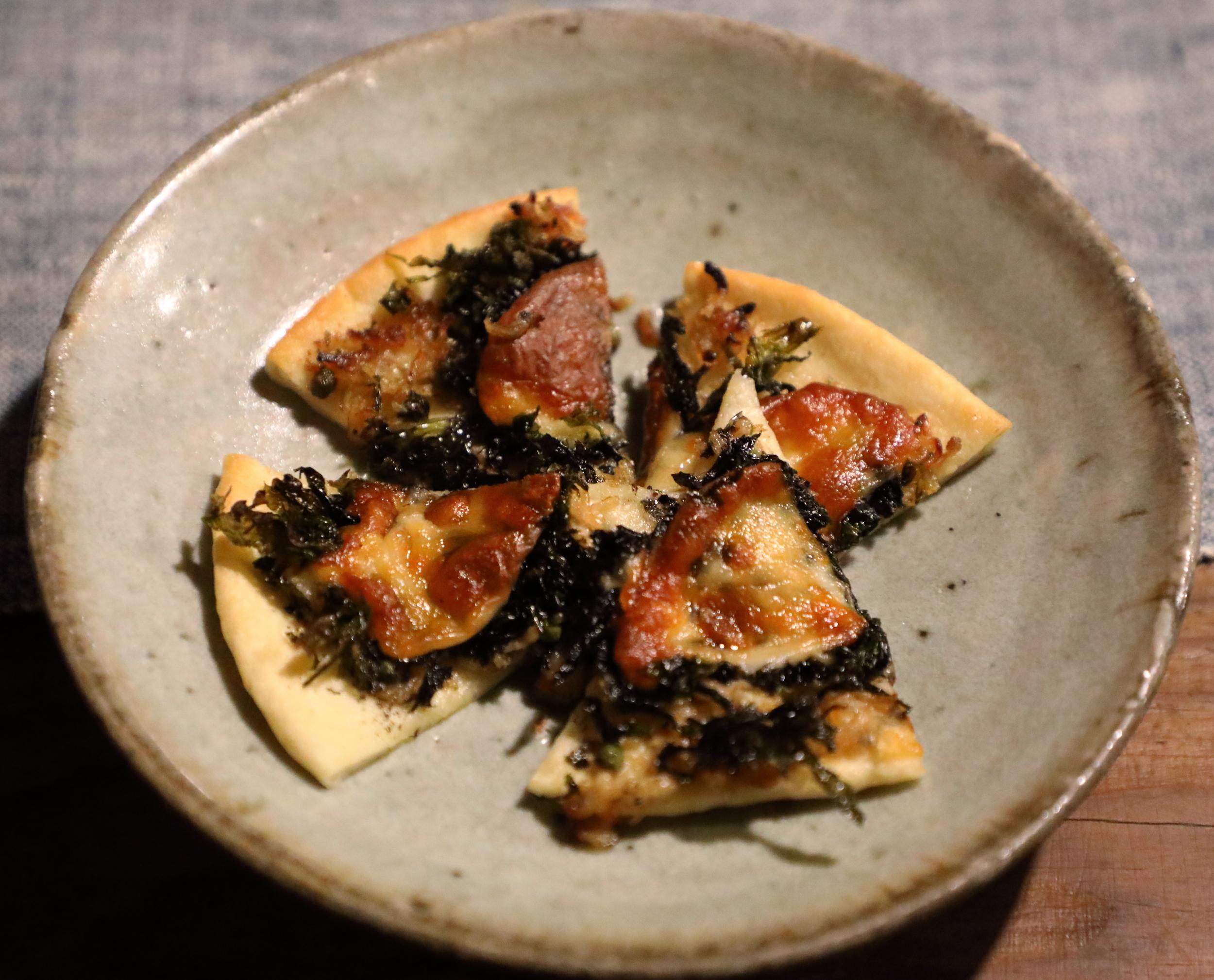 Sansho on Seaweed Pizza