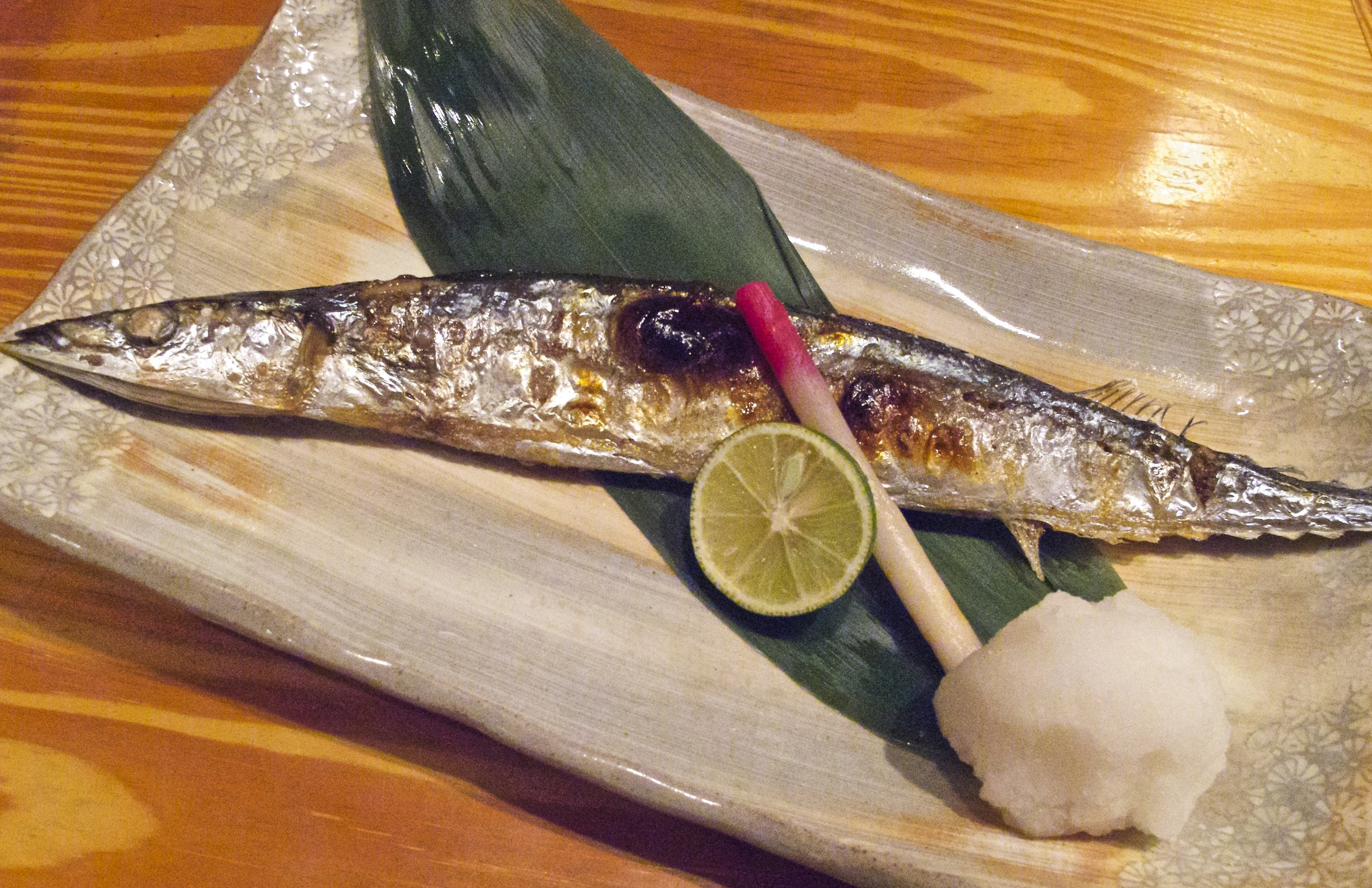 Using tart, lightly floral  sudachi  to season salt-grilled sanma (Pacific Saury) during the fish's short season in September is such a classic flavor combination that the image of the two together is an icon for the onset of autumn.