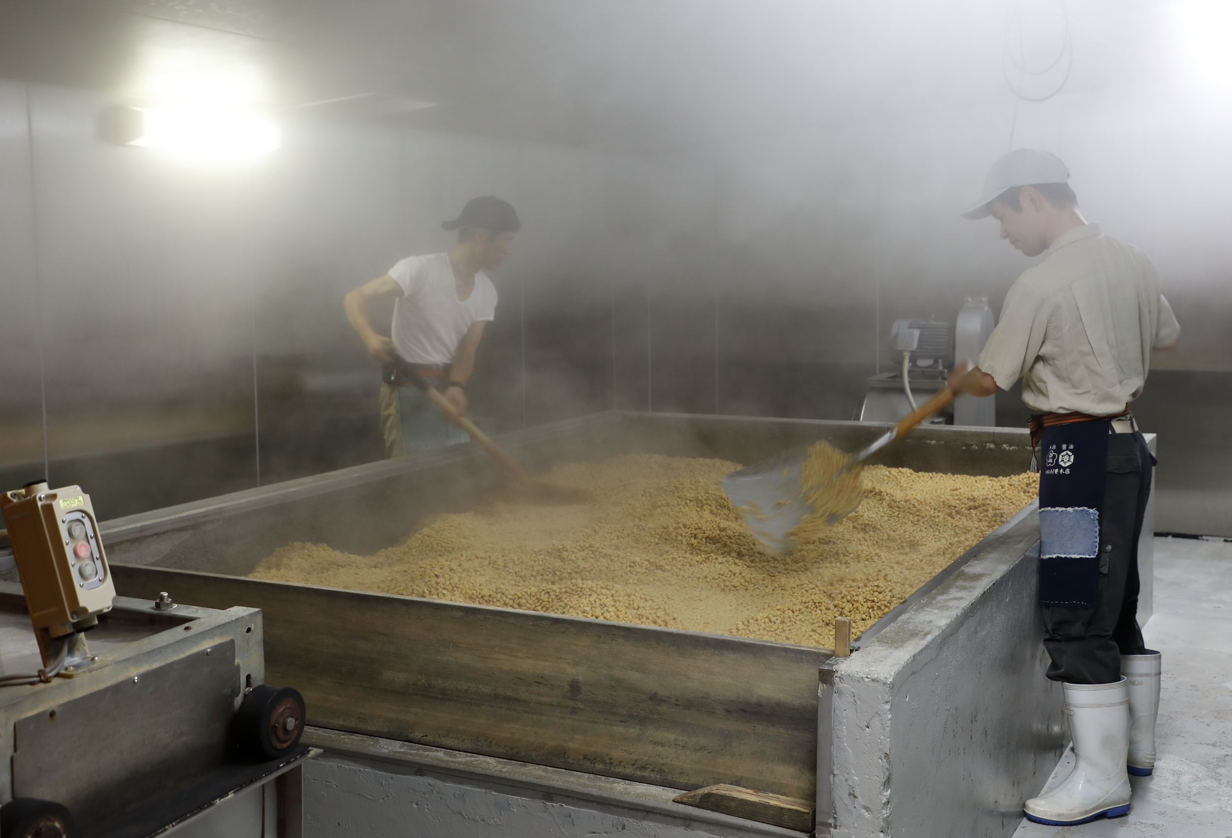 A key step in making soy sauce is carefully germinating the mixture of steamed soy beans, roasted wheat, and  koji-kin  mold spores to create  shoyu-koji , a crumbly dough-like malt that will become the essential flavor base of the soy sauce.