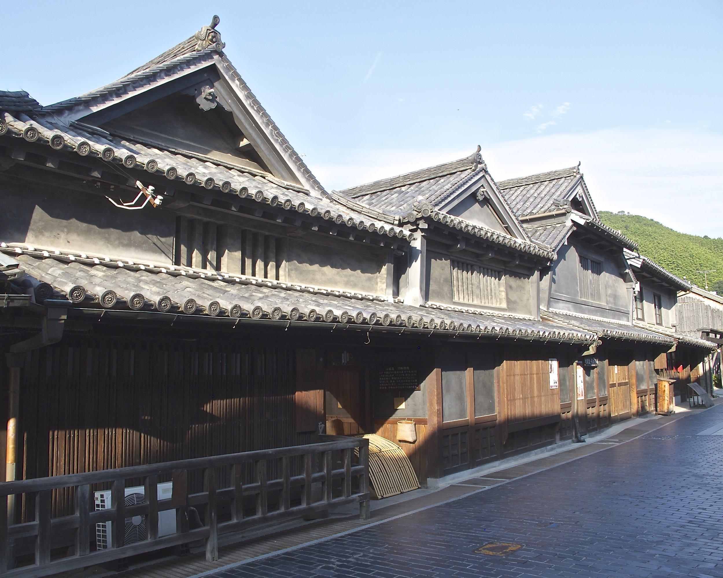The ancient early Edo era buildings of Taketsuru Shuzo.