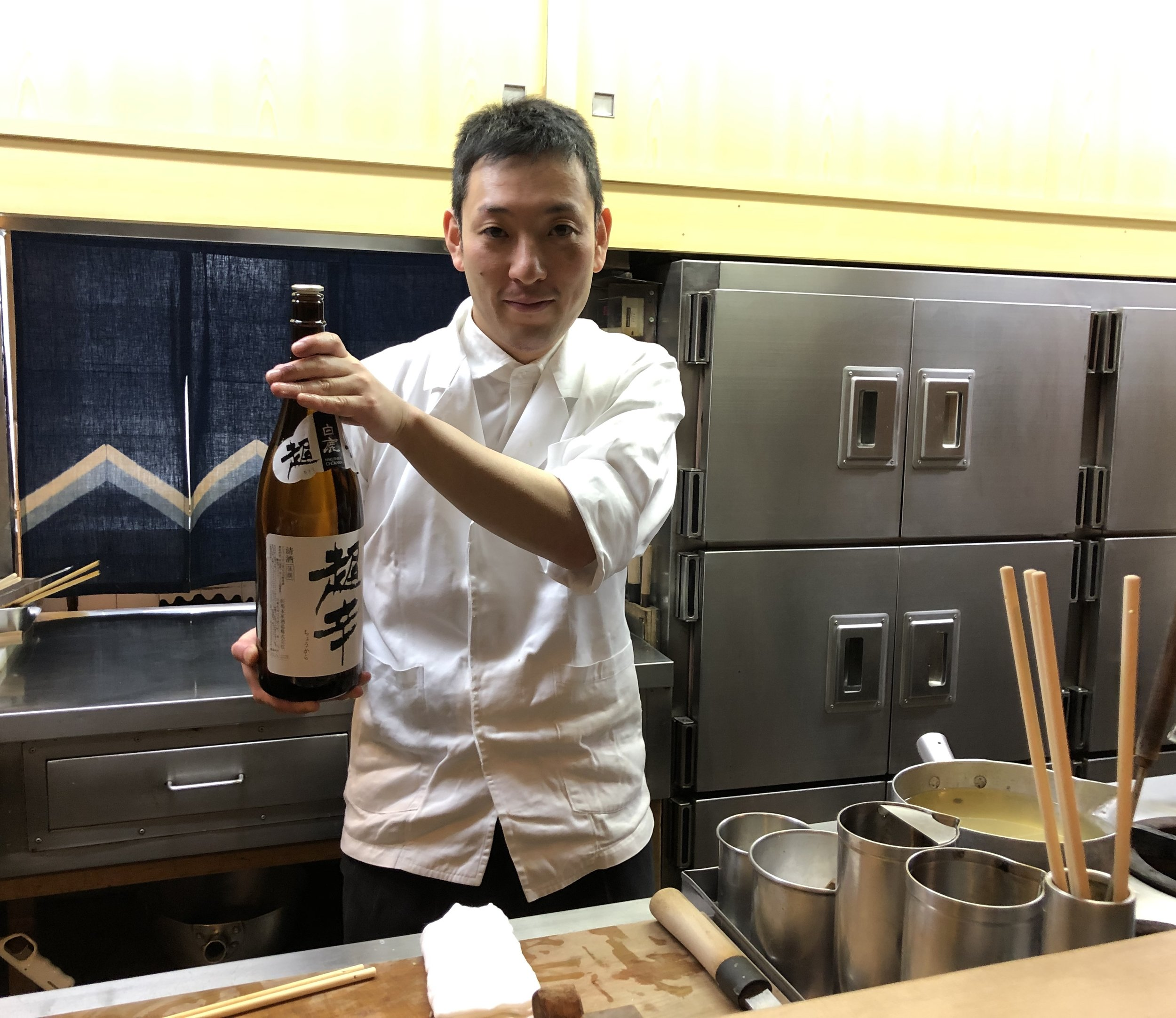 A Kyoto chef adds a touch of sake...